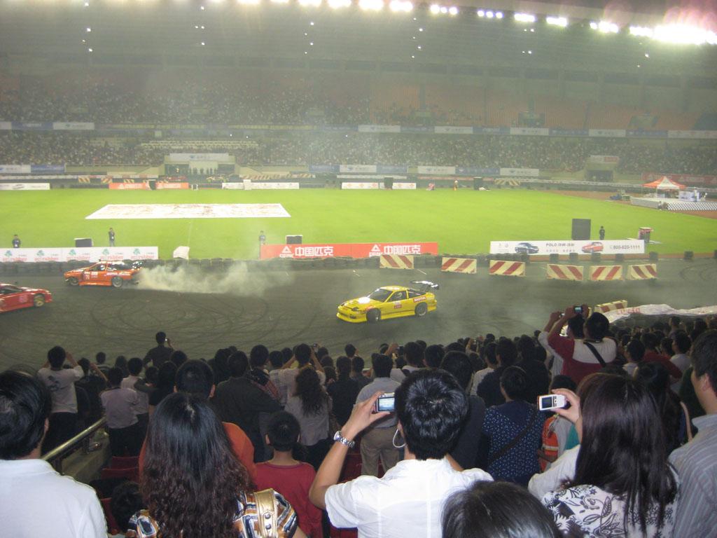 我拍摄的一些2008世界汽车漂移系列赛 杭州锦标赛 精彩图片高清图片